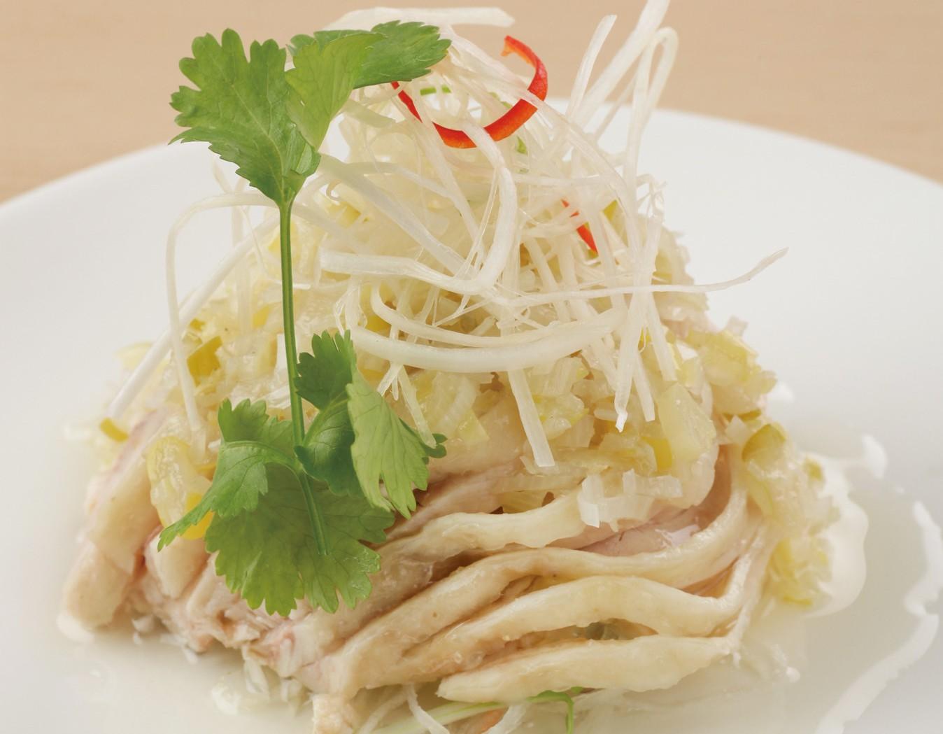 2014蒸し鶏の葱生姜ソース