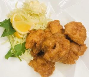 鶏の唐揚げ定食(トリミング)